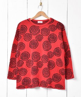 古着アメリカ製 うずまきデザイン コットンニットセーター 古着のネット通販 古着屋グレープフルーツムーン