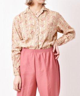 古着「Lizwear」 ペイズリー柄 コットンシャツ 古着のネット通販 古着屋グレープフルーツムーン
