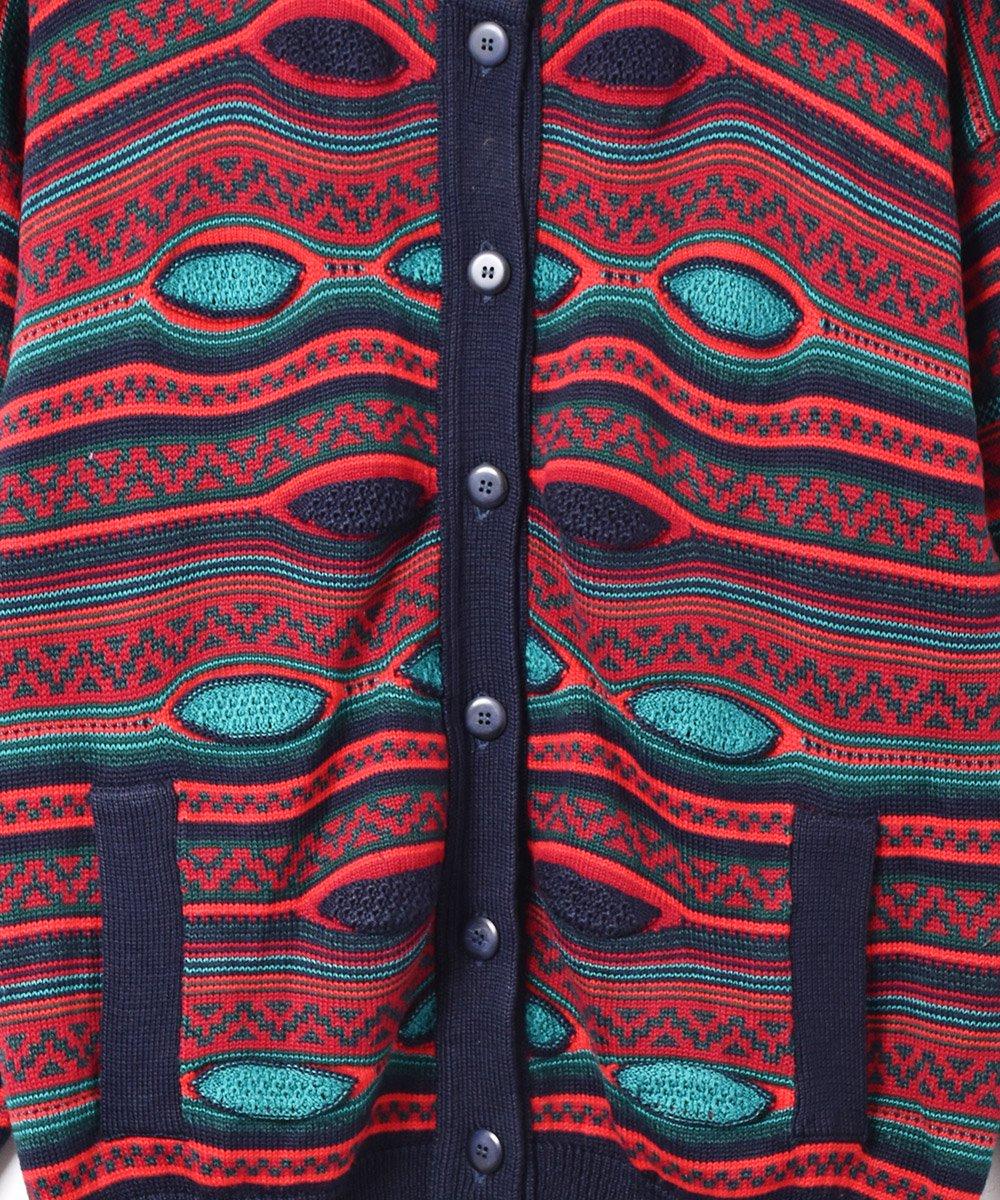 アイルランド製 立体編み カーディガン マルチカラーサムネイル