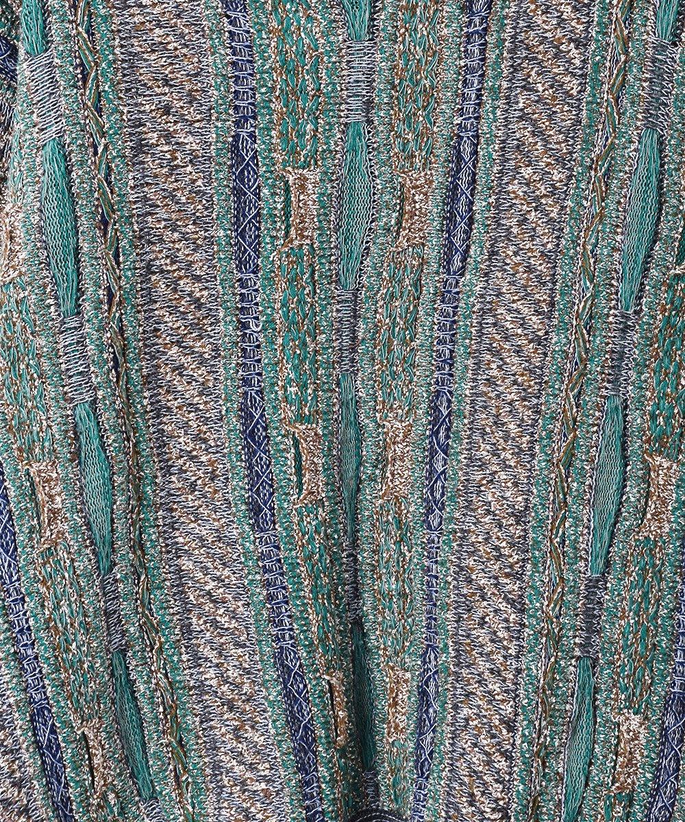 立体編み 3Dニットセーター グリーン系サムネイル