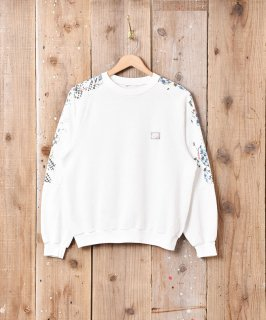 古着「NIKE」袖プリント スウェットシャツ ホワイト 古着のネット通販 古着屋グレープフルーツムーン