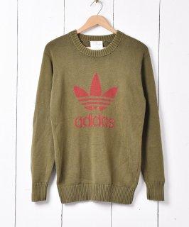 古着「adidas」トレフォイル セーター グリーン系 古着のネット通販 古着屋グレープフルーツムーン