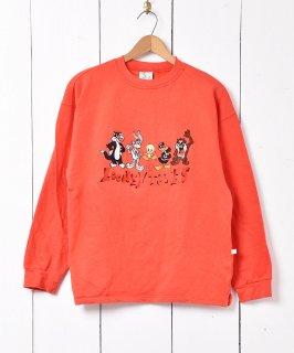 古着ルーニー・テューンズ 刺繍スウェット 古着のネット通販 古着屋グレープフルーツムーン