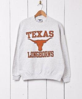 古着アメリカ製 テキサス大学「TEXAS LONGHORNS」 カレッジプリントスウェット 古着のネット通販 古着屋グレープフルーツムーン