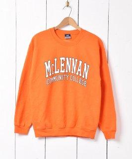 古着「McLENNAN COMMUNITY COLLEGE」カレッジプリントスウェット 古着のネット通販 古着屋グレープフルーツムーン