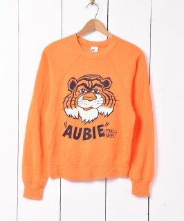 古着アメリカ製  オーバーン大学「Aubie the Tiger」 キャラクター カレッジプリント スウェットシャツ 古着のネット通販 古着屋グレープフルーツムーン