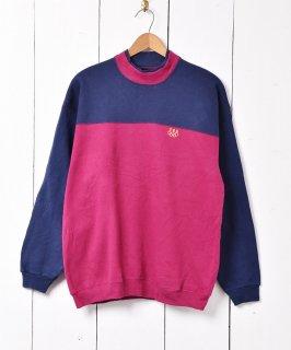 古着アメリカ製 2トーンカラー スウェットシャツ ネイビー×パープル 古着のネット通販 古着屋グレープフルーツムーン