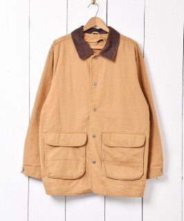 古着「WoolRich」ダック地 ハンティング ジャケット ベージュ 古着のネット通販 古着屋グレープフルーツムーン