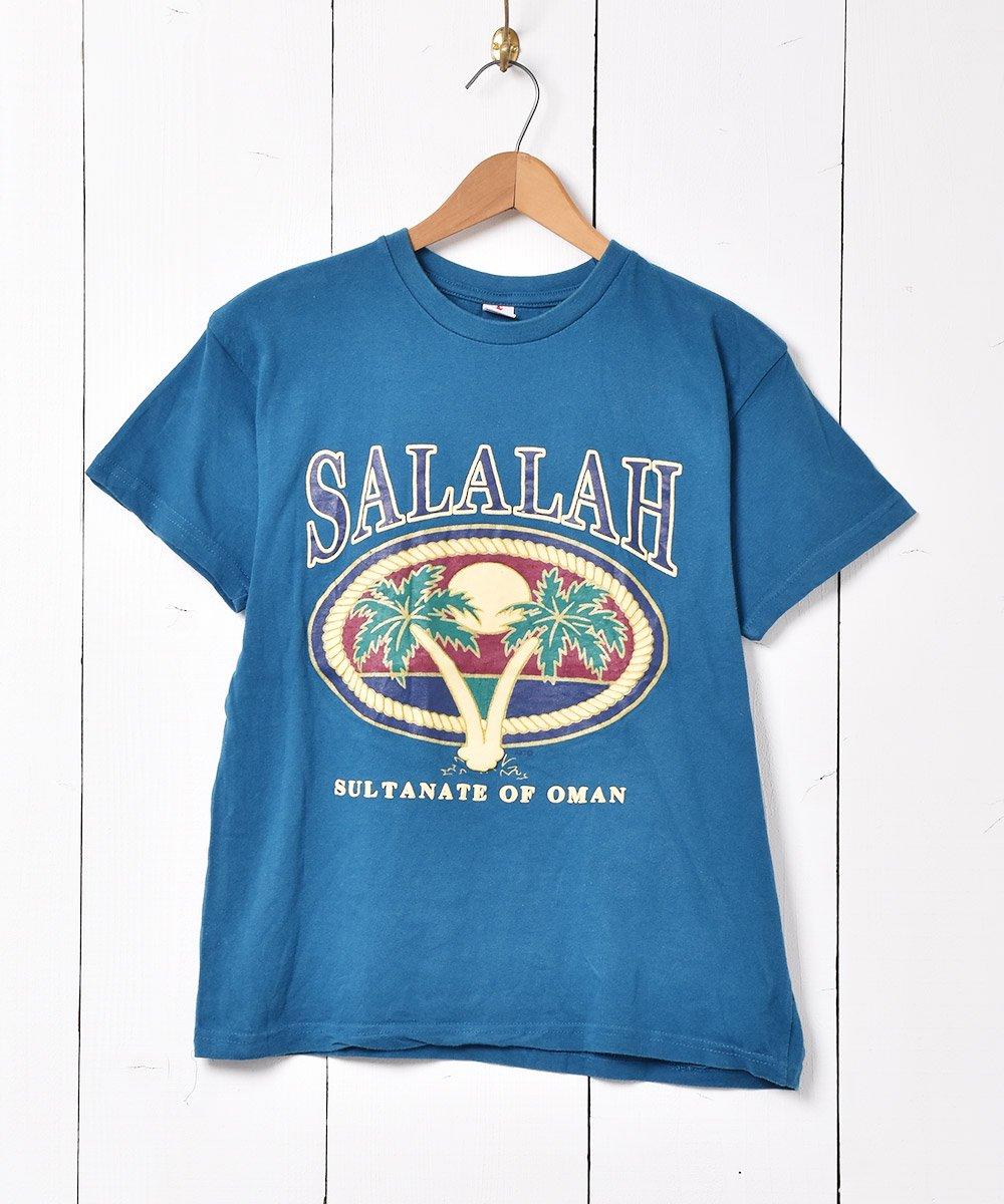 古着 サラーラ ヤシの木 ラバープリント Tシャツ 古着 ネット 通販 古着屋グレープフルーツムーン