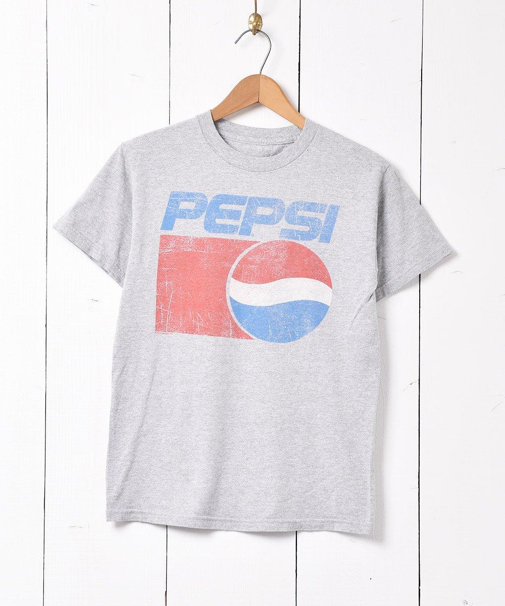 古着 「PEPSI」企業ロゴプリント Tシャツ グレー 古着 ネット 通販 古着屋グレープフルーツムーン