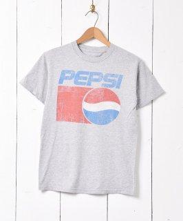 古着「PEPSI」企業ロゴプリント Tシャツ グレー 古着のネット通販 古着屋グレープフルーツムーン