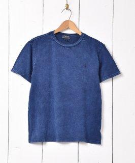 古着「RALPH LAUREN」 ポニーロゴ ワンポイントTシャツ ネイビー 古着のネット通販 古着屋グレープフルーツムーン