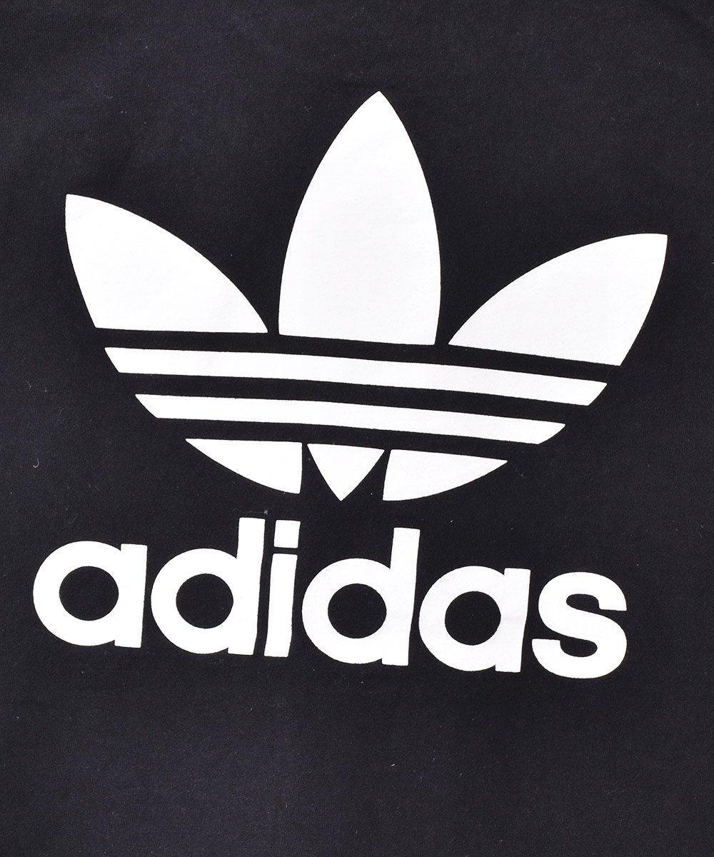 「adidas」トレフォイル 両面プリント Tシャツ ブラックサムネイル