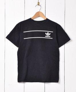 古着「adidas」トレフォイル 両面プリント Tシャツ ブラック 古着のネット通販 古着屋グレープフルーツムーン