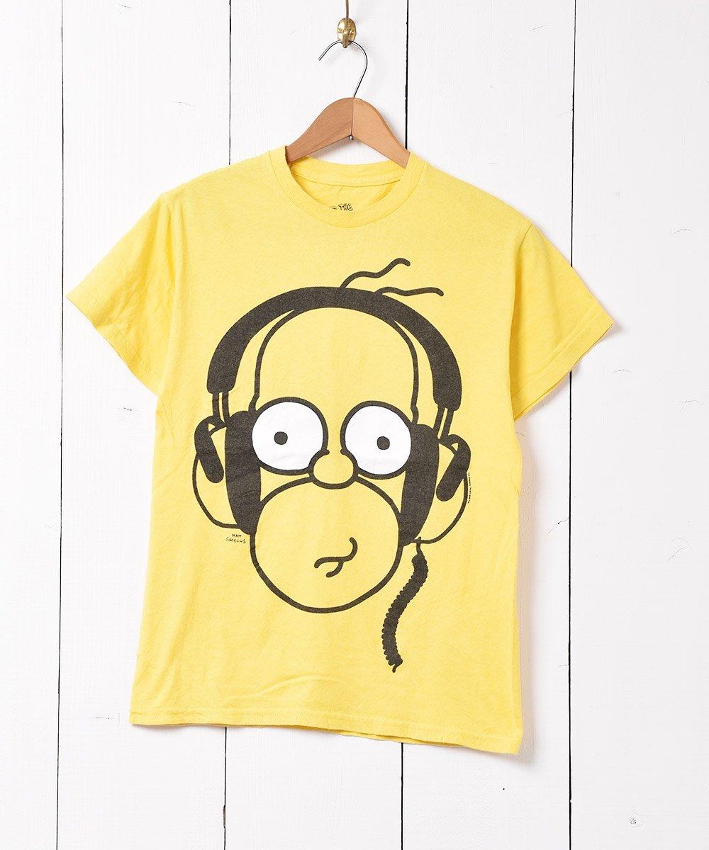 古着 「The SIMPSONS」キャラクタープリント Tシャツ イエロー 古着 ネット 通販 古着屋グレープフルーツムーン