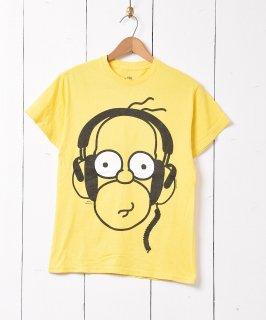 古着「The SIMPSONS」キャラクタープリント Tシャツ イエロー 古着のネット通販 古着屋グレープフルーツムーン