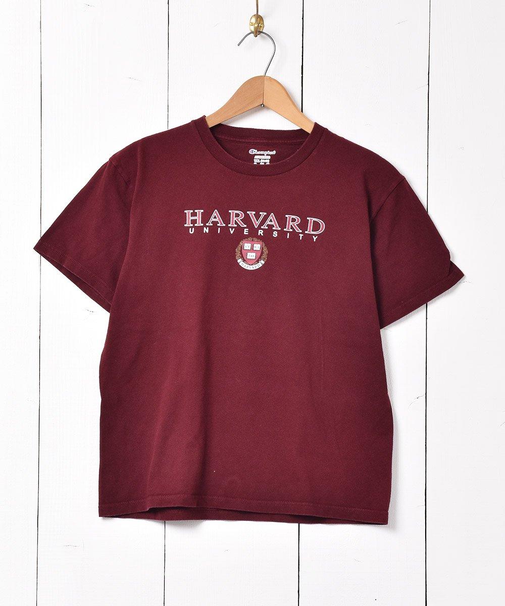 古着 「Champion」ハーバード大学 プリントTシャツ ワインレッド 古着 ネット 通販 古着屋グレープフルーツムーン