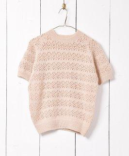 古着ヨーロッパ製 ショートスリーブニットセーター 古着のネット通販 古着屋グレープフルーツムーン
