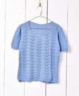 古着かぎ編み ショートスリーブニットセーター 古着のネット通販 古着屋グレープフルーツムーン