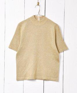 古着ハイネック ゴールドラメショートスリーブニットセーター 古着のネット通販 古着屋グレープフルーツムーン