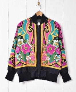 古着アメリカ製 花柄ナイロンジャケット 古着のネット通販 古着屋グレープフルーツムーン