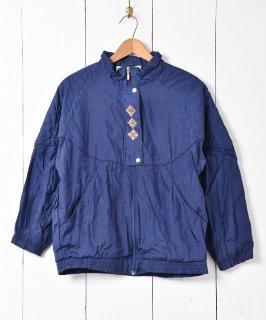 古着無地 刺繍 ウィンドブレーカー 古着のネット通販 古着屋グレープフルーツムーン
