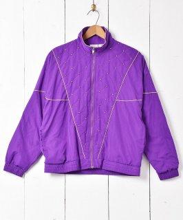 古着無地 ゴールドラインナイロンジャケット 古着のネット通販 古着屋グレープフルーツムーン