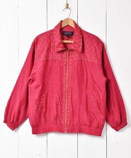 古着無地 装飾付きシルクジャケット 古着のネット通販 古着屋グレープフルーツムーン