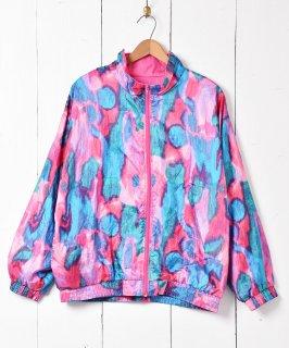 古着水彩画風 ナイロンジャケット 古着のネット通販 古着屋グレープフルーツムーン