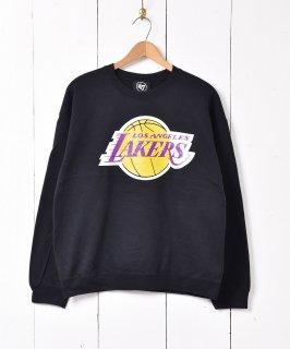 古着NBA レイカーズ プリントスウェットシャツ ブラック 古着のネット通販 古着屋グレープフルーツムーン