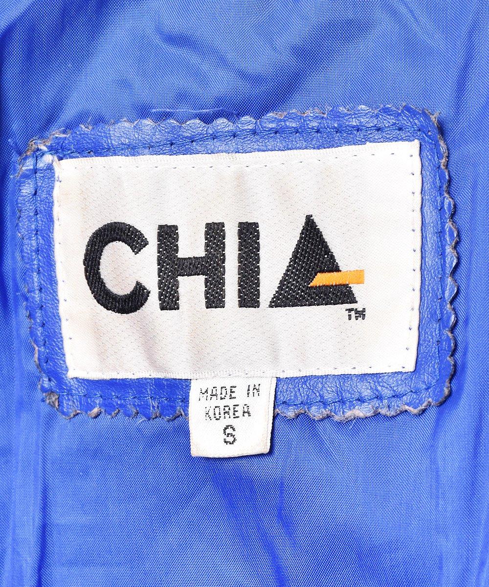 ショールカラー 切り替えデザイン ダブル ショートレザージャケットサムネイル