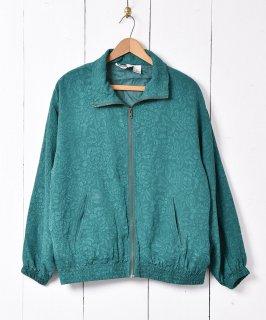 古着花柄 シルクジャケット グリーン 古着のネット通販 古着屋グレープフルーツムーン
