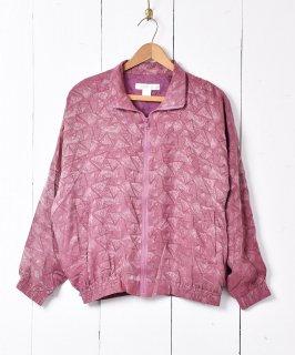 古着トライアングルパターン シルクジャケット 古着のネット通販 古着屋グレープフルーツムーン