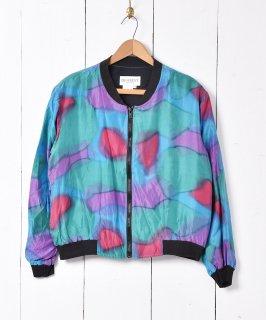 古着水彩画風 シルクジャケット 古着のネット通販 古着屋グレープフルーツムーン
