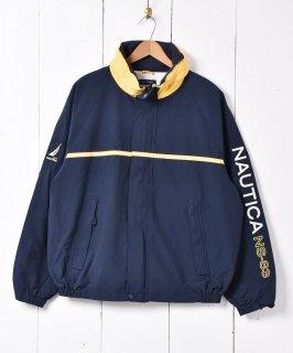 古着「nautica」 ナイロンラインジャケット 古着のネット通販 古着屋グレープフルーツムーン