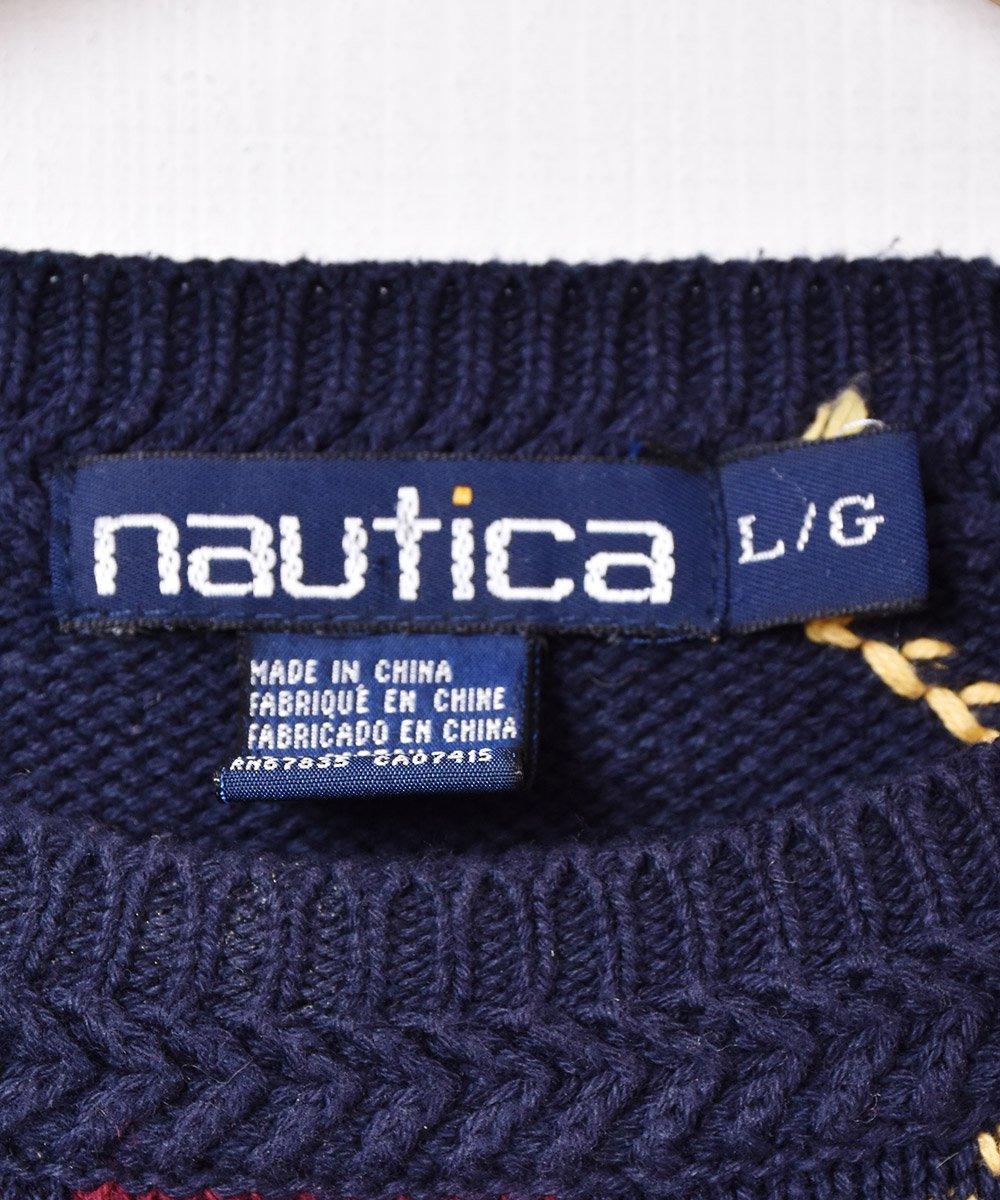 「NAUTICA」 アーガイル柄 コットンニットセーターサムネイル