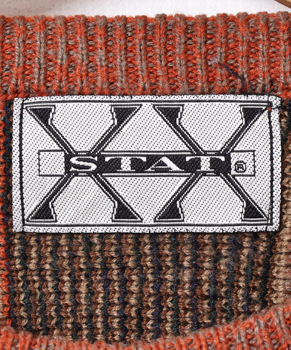 立体編みニットセーター オレンジサムネイル