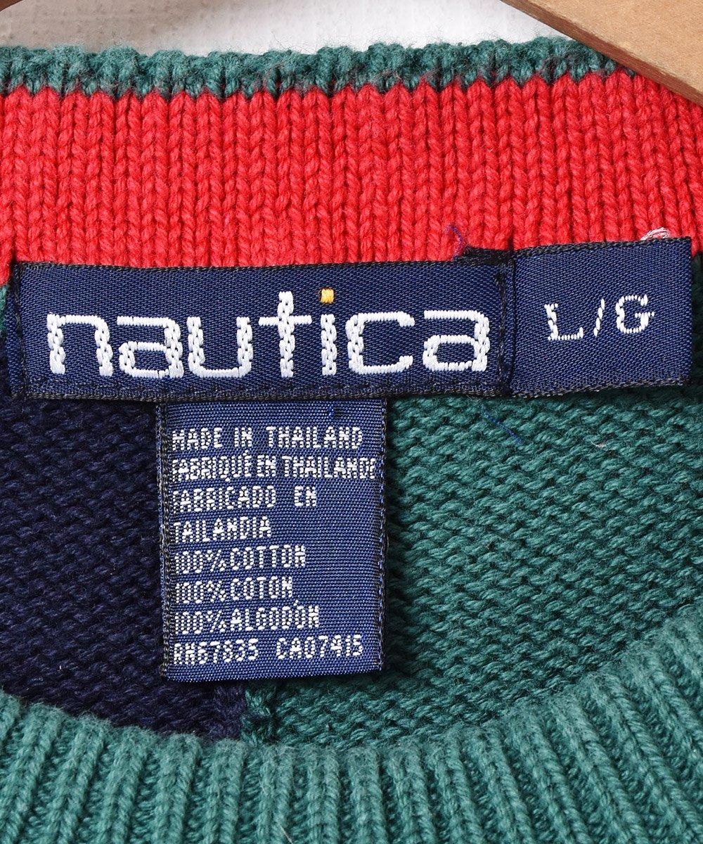 「nautica」2トーンコットンニットサムネイル