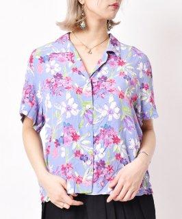 古着花柄 オープンカラーショートスリーブシャツ 古着のネット通販 古着屋グレープフルーツムーン