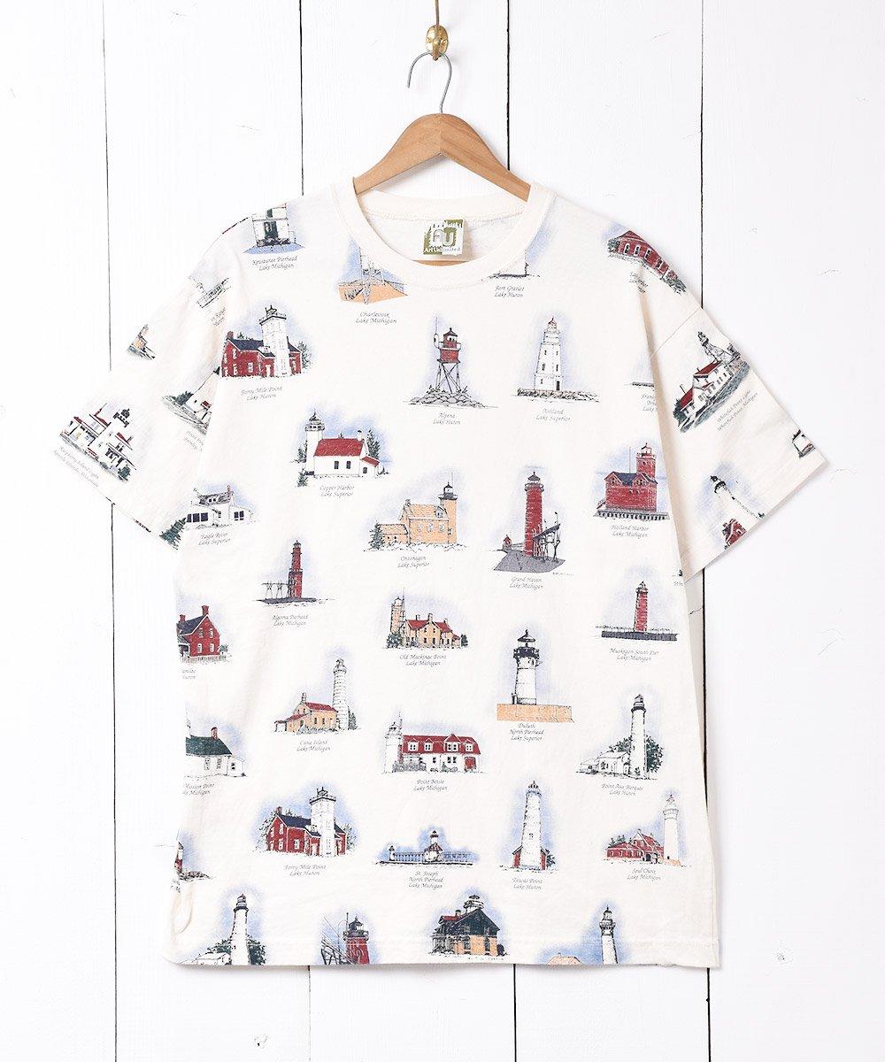 古着 アメリカ製 総柄 プリントTシャツ 古着 ネット 通販 古着屋グレープフルーツムーン