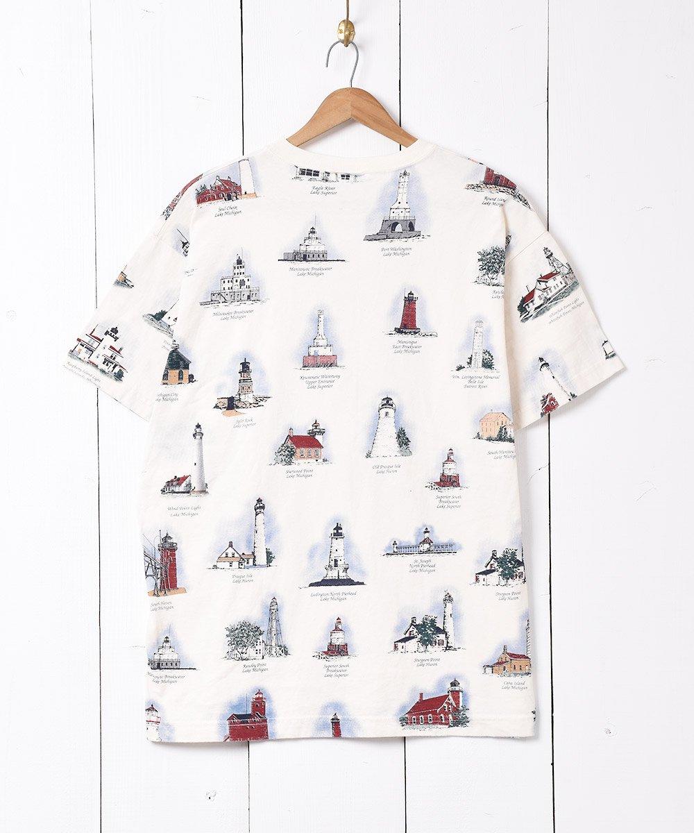 アメリカ製 総柄 プリントTシャツサムネイル