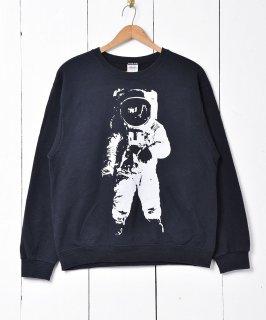 古着宇宙飛行士プリント スウェット 古着のネット通販 古着屋グレープフルーツムーン