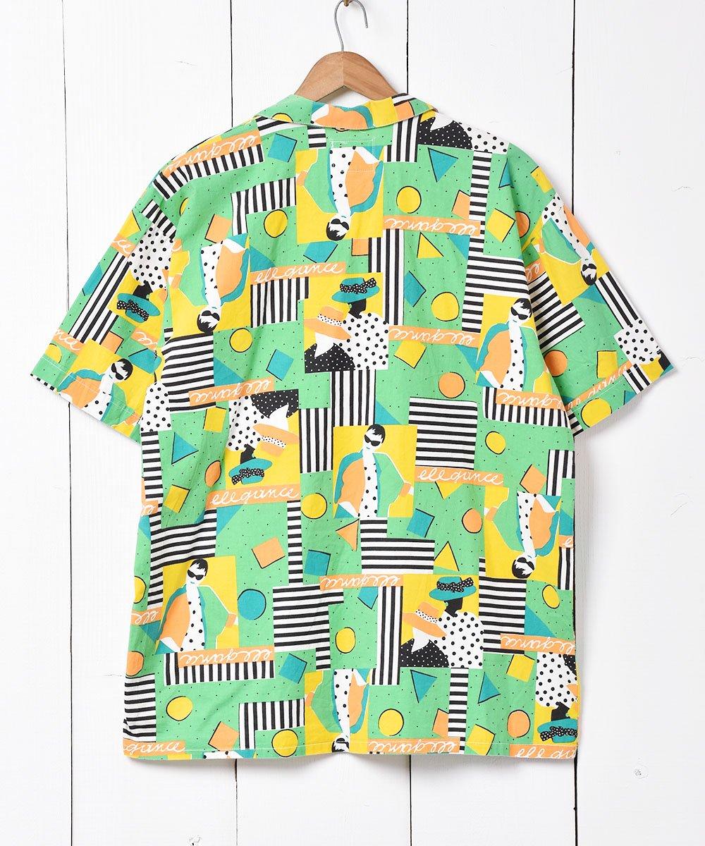 総柄 オープンカラーシャツサムネイル