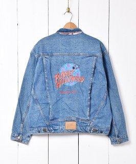 古着PLANET HOLLYWOOD刺繍 デニムジャケット 古着のネット通販 古着屋グレープフルーツムーン