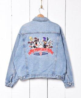 古着ワーナー・ブラザース  キャラクター刺繍 デニムジャケット 古着のネット通販 古着屋グレープフルーツムーン
