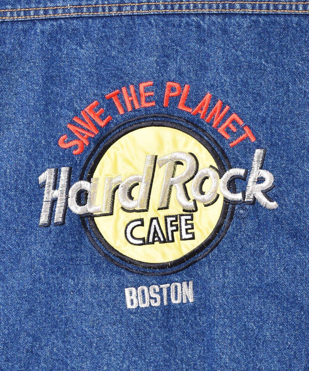 Hard Rock CAFE ボストン 刺繍 デニムジャケットサムネイル