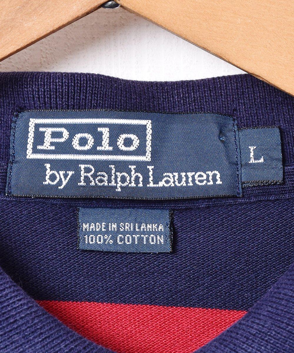 「Ralph Lauren」 ポニーロゴ ボーダー柄 長袖ポロシャツサムネイル