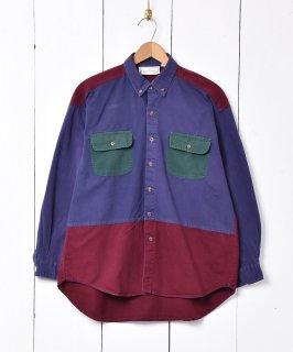 古着クレイジーパターン ボタンダウンシャツ 古着のネット通販 古着屋グレープフルーツムーン