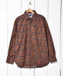 古着「TOMMY HILFIGER」 ペイズリー柄 ロングスリーブ シャツ 古着のネット通販 古着屋グレープフルーツムーン