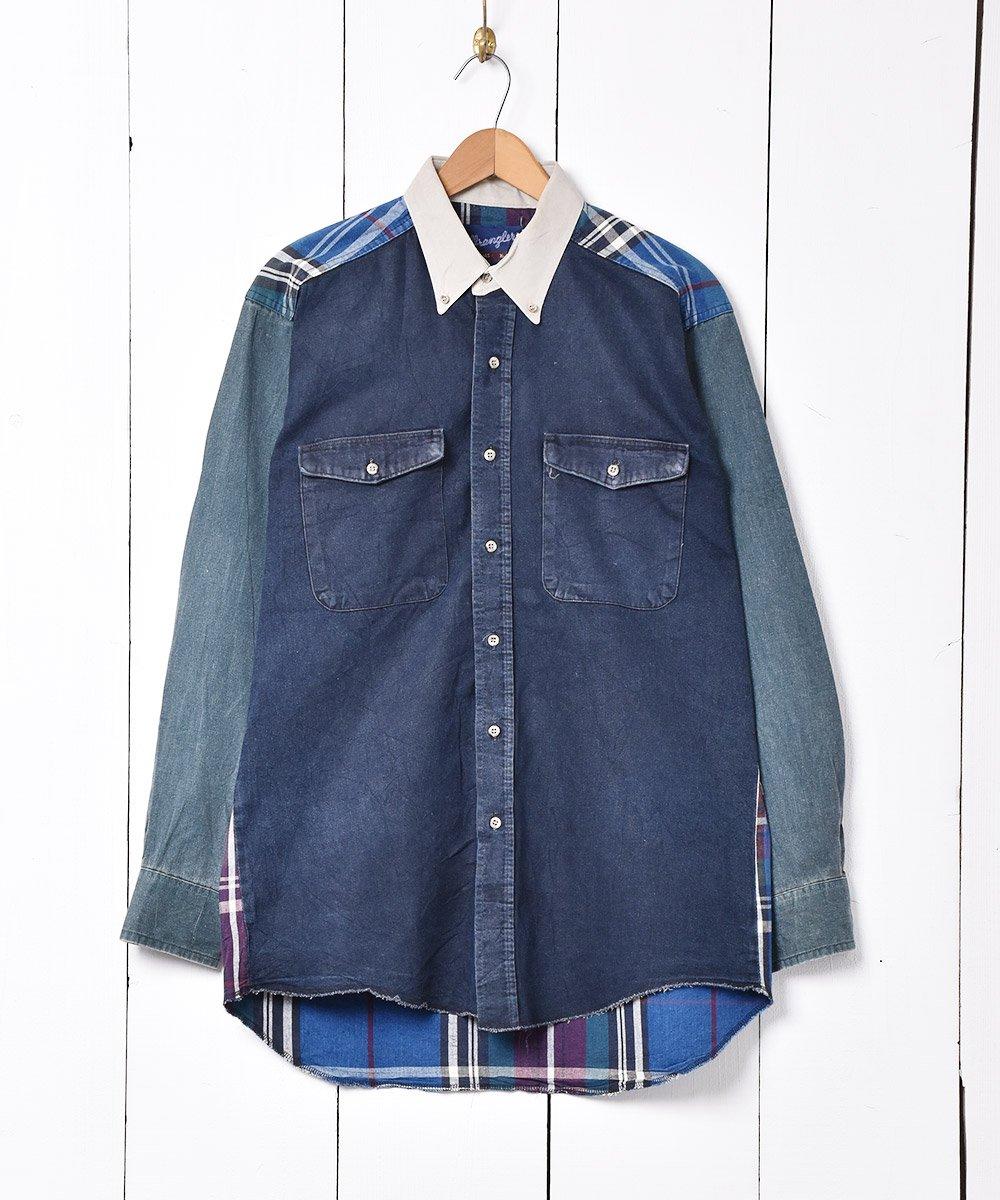 古着 アメリカ製 「Wrangler」 クレイジーパターン ロングスリーブシャツ 古着 ネット 通販 古着屋グレープフルーツムーン